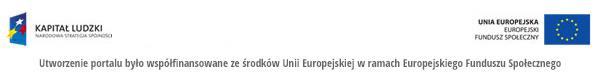 Utworzenie portalu było współfinansowane ze środków Unii Europejskiej w ramach Europejskiego Funduszu Społecznego
